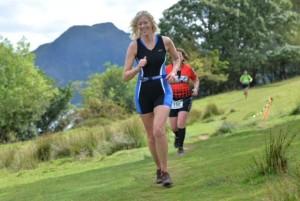 ClaireTriathlon running