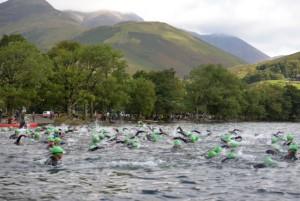 Claire Triathlon swimming